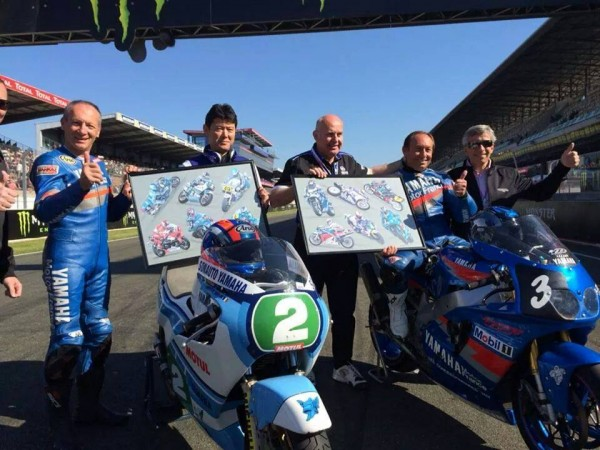 MOTO-GP-2014-GP-FRANCE-HOMMAGE-A-Christian-SARRON-pour-feter-le-30éme-anniversaire-de-son-titre-de-CHAMPION-du-MONDE.
