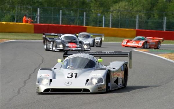 SPA-CLASSIC-2014-En-Groupe-C-victoire-incontestée-de-la-Mercedes-C11-des-anglais-Evans-berridge-©-Manfred-GIET
