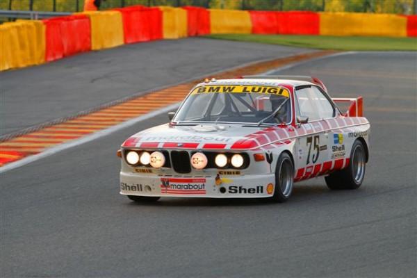 SPA-CLASSIC-2014-P-A-THIBAUT-BMW-3.0-CSL-ex-Luigile-patron-du-circuit-de-Spa-Francorchamps-vainqueur-dans-son-jardin-©-Manfred-GIET