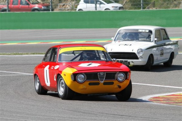 SPA-CLASSIC-2014-les-allemands-Furiano-Stippler-Alfa-Romeo-Giulia-Sprint-GTA-vainqueurs-en-u2TC-pa-Classic-Endurance-©-Manfred-GIET