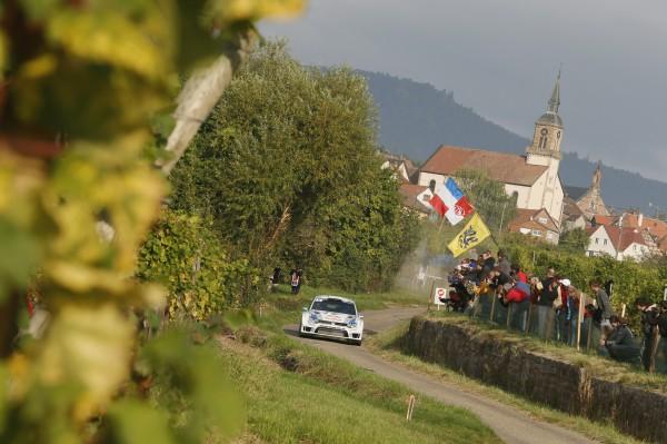 WRC 2013 ALSACE Sebastien OGIER Le vainqueur sacre CHAMPION du monde en Alsace Photo TEAM