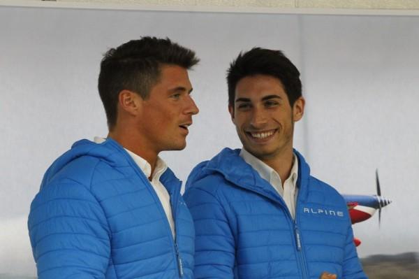 Deux des pilotes ALPINE, Nelson PANCIATICI et Paul Loup CHATIN - Photo Thierry COULIBALY