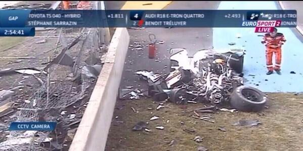 24-HEURES-DU-MANS-2014-ACCIDENT-AUDI-LOIC-DUVAL-capTure-ecran-EUROSPORT