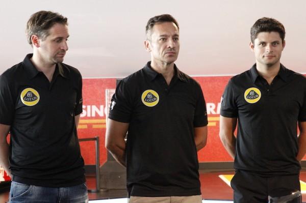 24-HEURES-DU-MANS-2014-Presentation-LOTUS-Les-trois-pilotes-LOTUS
