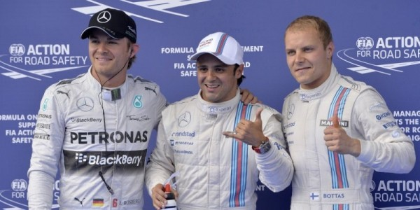 F1-2014-AUTRICHE-MASSA-WLLIAMS-MERCEDES