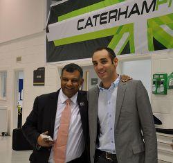 F1 2014 Caterham team Tony FERNANDES et Cyril ABITEBOUL