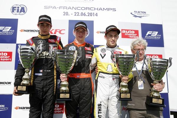 F3 2014 - SPA - le podium de la seconde course