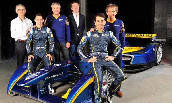 FORMULE-E-2014-Presentation-du-Team-RENAULT-e-dams-et-ses-deux-pilotes-Nicolas-PROST-et-Sebastien-BUEMI