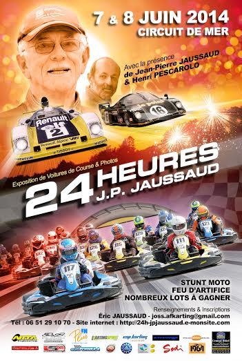 KARTING 24 H JP JAUSSAUD 2014 - Affiche