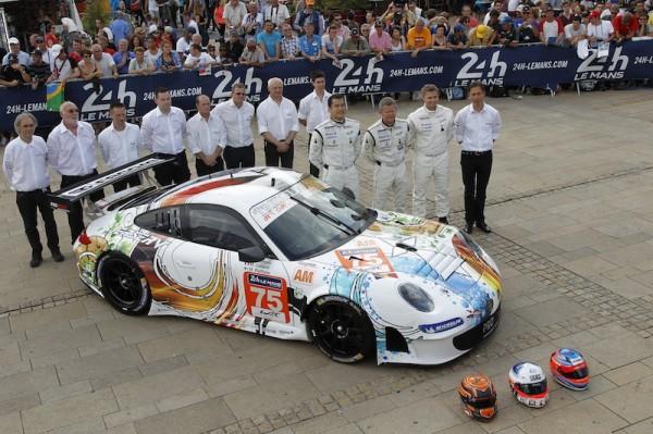 24 HEURES DU MANS 2014 PORSCHE 911 GT 3 N° 75 Francois PERRODO, Emmanuel COLLARD ert Makku PALTTALA