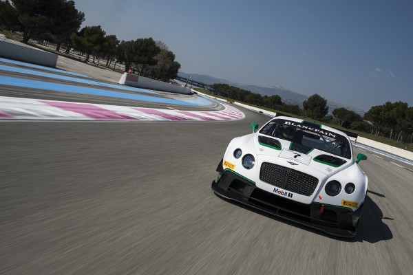TROPHEE BLANCPAIN 2014 - La BENTLEY lors des tests au PAUL RICARD