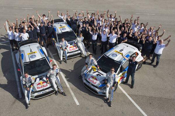 WRC 2013 CATALOGNE VW CHAMPIONS DU MONDE DES EQUIPES.