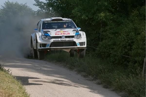 WRC 2014 POLOGNE La POLO de Sébastien Ogier Julien Ingrassia.