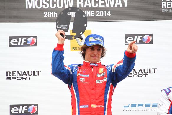 WSR 2014 MOSCOU Roberto MEHRI du ZETA Corse remporte la seconde course en Formula 3 5 le 29 juin