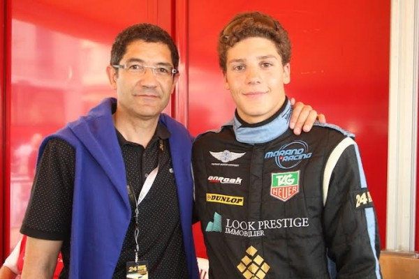 24-HEURES-DU-MANS-2013-Olivier-LOMBARD-avec-son-pére-Jean-LOMBARD-EQUIPE-MORAND-Photo-Thierry-COULIBALY