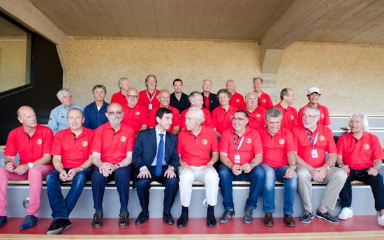24-HEURES-DU-MANS-2014-Inauguration-du-CLUB-DES-PILOTES-avec-Le-Président-FILLON-Gerard-LAROUSSE-Henri-PESCAROLO-et-tant-d-autres.