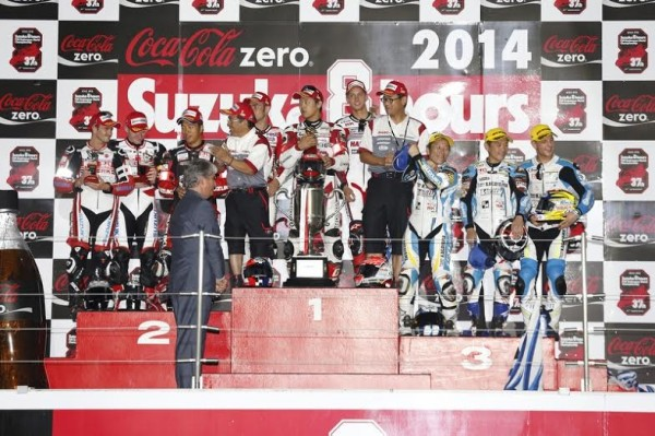 ENDURANCE MOTO 2014  - 8 Heures de SUZUKA -  le podium