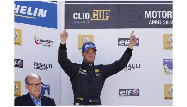 EUROCUP-CLIO-2014-Podium-a-MOTORLAND-pour-Eric-TREMOULET