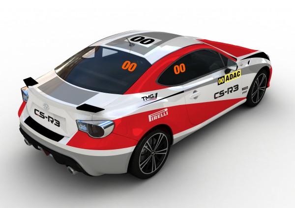 TOYOTA GT 86 CS G3 VOITURE pivreuse du rallye Allemagne 2014