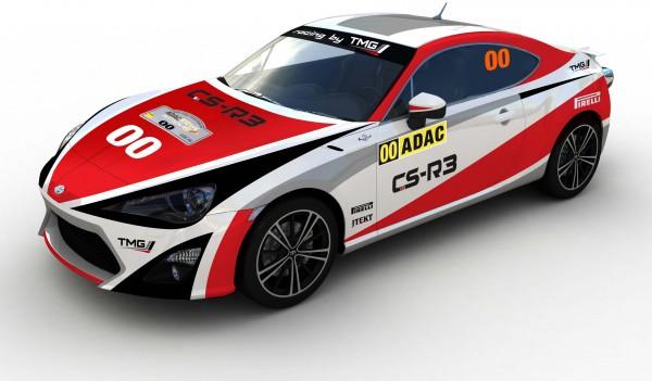 WRC 2014 ALLEMAGNE La TOYOTA GT 86 voiture ouvreuse