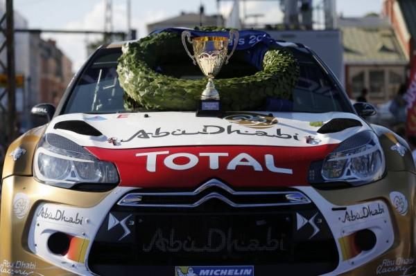 WRC 2014 - OSTBERG DS3 1er HELSINKI BATTLE