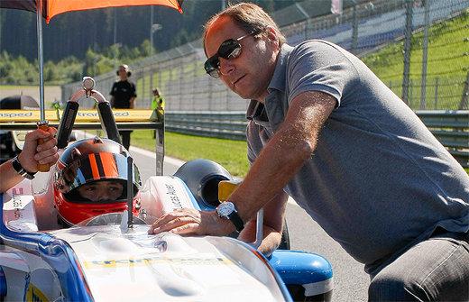 CHAMPIONNAT EUROPE DE F3 - Lucas AUER avec son oncle Gehrard BERGER
