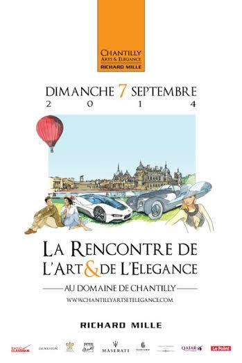 CONCOURS ELEGANCE CHANTILLY 2014 - Affiche a