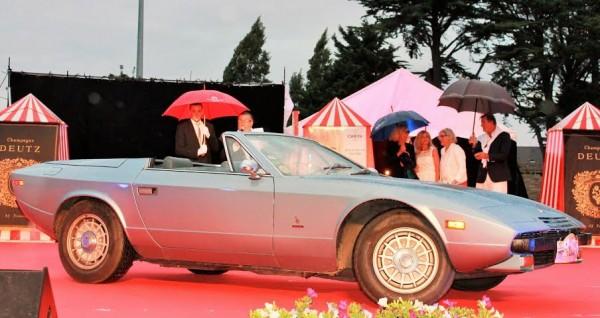 CONCOURS ELEGANCE LA BAULE 14 Août 2014-Maserati Khamsin cabriolet de 1976 - Un modele UNIQUE au monde.-Photo Emmanuel Leroux.