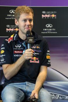 F1 2014 SEB VETTEL Conference a SOTCHI le 25 aout.