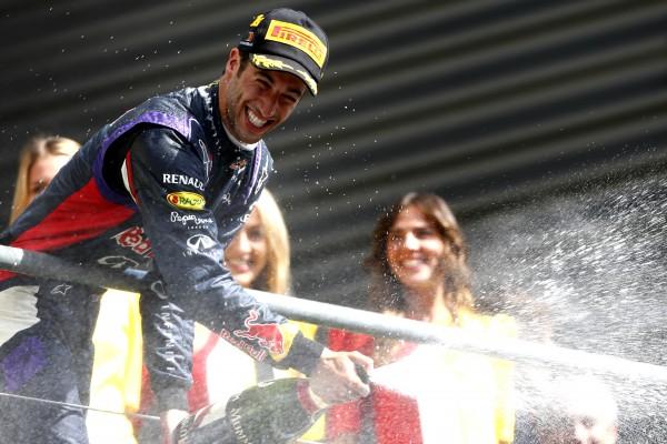 F1 2014  SPA  - Victoire de DANIEL RICCIARDO le 24 aout  - Photo Pirelli