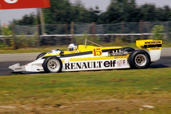 F1-La-RENAULT-de-PROST-GP-Belgique-le-5-mai-1981-Photo-Bernard-BAKALIAN