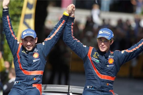 WRC-2014-ALLEMAGNE-NEUVILLE-GILSOUL-VICTORIEUX-le-24-aout-avec-leur-HYUNDAI-i20WRC