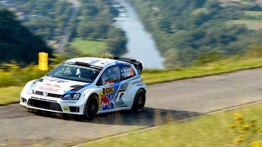 WRC-2014-ALLEMAGNE-VW-Polo-de-LATVALA au Shakedown