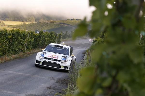 WRC 2014 ALLEMAGNE la POLO VW de MIKKELSEN.