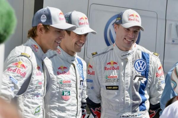 WRC 2014 POLOGNE les pilotes VW.