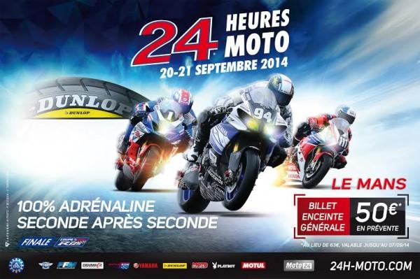 ENDURANCE MOTO 2014 - 24 H DU MANS Affiche