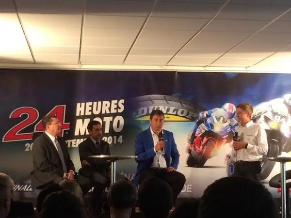 ENDURANCE-MOTO-2014-24-H-DU-MANS-Présentation-a-PARIS-le-4-sept-avec-Jacques-BOLLE-FFM-Pierre-FILLON-ACO-Paul-DUPARC-FIM