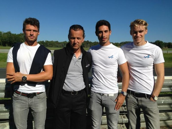EURO-FORMULA-2014-4-Septembre-Les-pilotes-ALPINE-avec-Laurent-FRADON-sur-le-circuit-de-La-Châtre.
