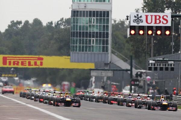 F1 2014 - MONZA - Le depart du GP ITALIE 2013