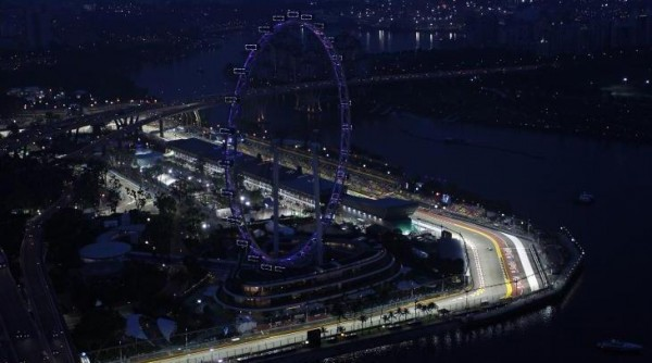 F1 2014  SINGAPOUR vue de nuit