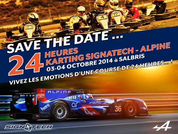 KARTING 2014  24 HEURES SIGNATECH ALPINE  Affiche
