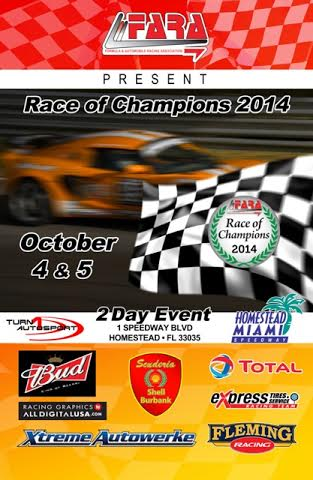 LECUYER  RACE OF CHAMPIONS A MIAMI HOMESTEAD  Affiche