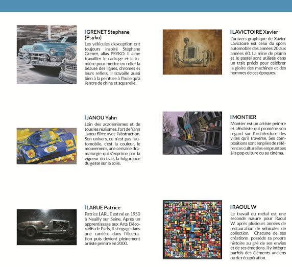 MECANICA EXPO 2014 - Liste des artistes 1