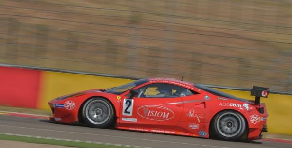 VdeV 2014 - MOTORLAND - GT Ferrari-N°2-Pilotes-Pagny Jean-Paul -Perrier Thierry-Bouvet Jean-Bernard - Photo Antoine CAMBLOR