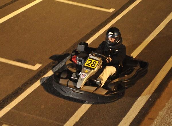 24 HEURES KARTING ALPINE SIGNATECH -Le Kart victorieux au cours de la nuit -Photo Eric REGOUBY.