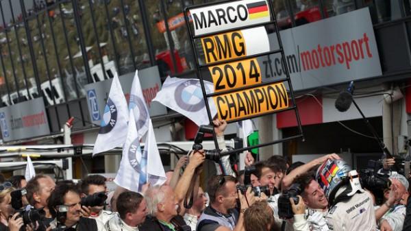 DTM-2014-ZANDWOORT-BMW-fete-son-CHAMPION-Marco-WITTMANN