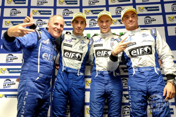 ELMS-2014-ESTORIL-LES-pilotes-ALPINE-SIGNATECH-Nelson-PANCIATICI-Oliver-WRBB-et-PAUL-LOUP-CHATIN-et-Philippe-SINAULT-CHAMPIONS-D-EUROPE-2014