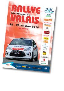 ERC 2014 RALLYE DU VALAIS  AFFICHE