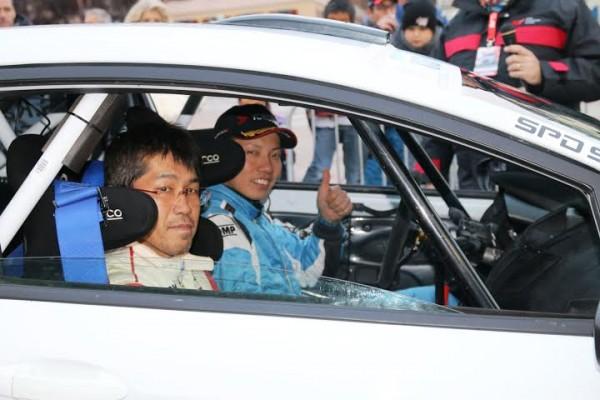 ERC RALLYE DU VALAIS 2014 - l équipage Japonais Kawana-Takeyavu.
