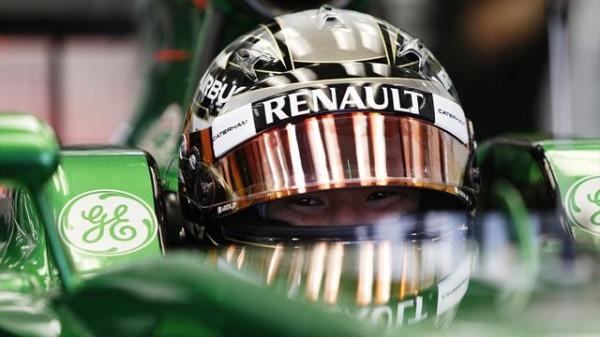 F1  2014 BAHREIN  KOBAYASHI  cockpit de la CATERHAM